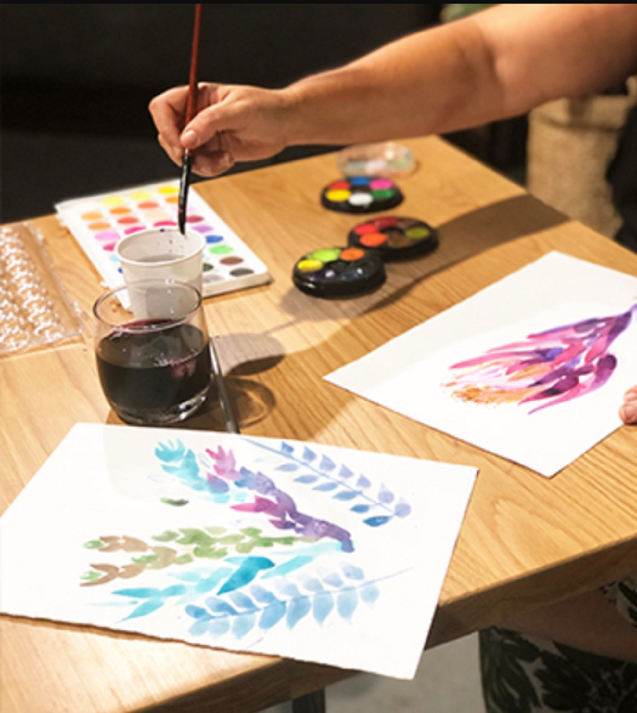 Paint and Sip Class Watercolour and Wine - Restaurants Sydney