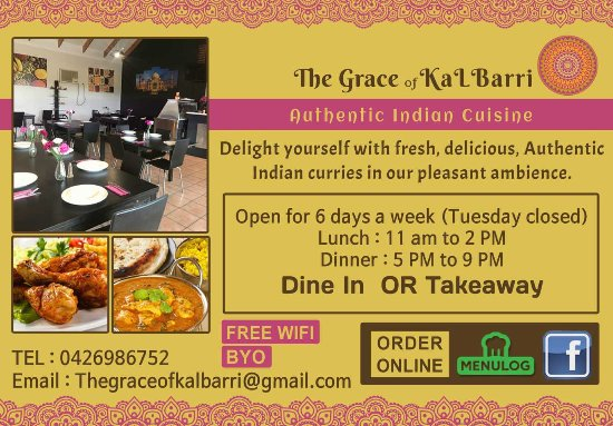 The Grace of Kalbarri Indian Cuisine - Restaurants Sydney